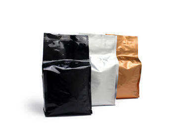 Aluminum Foil Plastic Side Gusset Bag Food Grade For Coffee Bean With Valve
