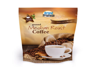 Resealable Coffee Side Gusset Bag Recycle 350 Grams Custom Printed With Tin Tie