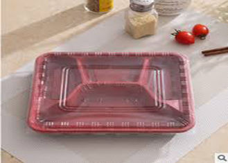 Disposable PP Biodegradable Plastic Packaging , 4 Compartment Microwave Safe Containers Lunch Box For Catering