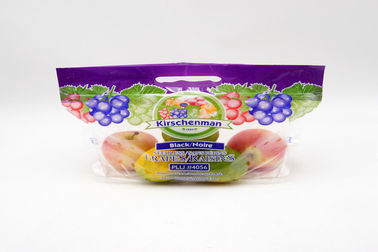 Flexible Fruit And Veg Bags Custom Printed Sealed Side Packaging Zipper With Vent Holes